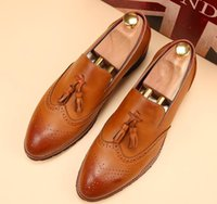 Wholesale Pink Dress Shoes For Men - New Oxford Shoes for Men Dress Shoes Leather Office Shoes Men Flats Zapatos Hombre Black Mens Oxfords