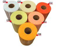 düğün partisi zanaat malzemeleri toptan satış-Yeni Tül Rulo 15 cm 100 Yards Rulo Kumaş Makara Parti Hediye Paketi Düğün Doğum Günü Dekorasyon Dekoratif El Sanatları Malzemeleri