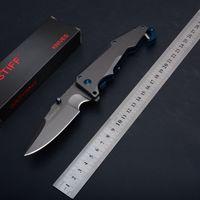 Wholesale Knife Hooks - 2018 MASTIFF Titanium Tactical Folding Knife 7Cr17Mov 59HRC Clip Outdoor Camping Hunting Survival Pocket Knife Hook EDC Tools Xmas Gift