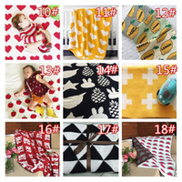 Wholesale Bath Mats For Kids - Baby Kids Blankets Black White Swan Cross Muslin Crawling Blanket Carpet for Infant Baby Bedspread Bath Towels Kids Play Mat