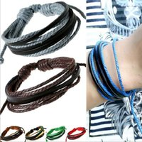 Wholesale British Hot Girl - Leather bracelets Hot Sale Infinity British Fashion Multi Layer Bracelet for Women Girl Boy Jewelry Wholesale Free Shipping 0517WH