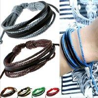 Wholesale British Charm Bracelet - Leather bracelets Hot Sale Infinity British Fashion Multi Layer Bracelet for Women Girl Boy Jewelry Wholesale Free Shipping 0517WH