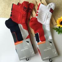 Wholesale Usa Towel - USA Professional Elite Basketball Socks Men Towel Bottom Thickening Socks Soccer Running Cycling Hiking Football Sporting Sock