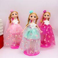 Wholesale Bjd Wedding Dress - Wedding dresses, dolls, princesses, blurred dolls, bridal bags, key rings, small pendants, dolls, creative gifts
