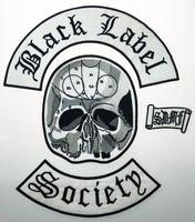 ingrosso vestiti giubbotto-All'ingrosso Eccellente 4 pz Indietro Set Black Label Society Ricamato Patch di Ferro Giacca Biker Rider Vest Patch di Ferro Su Qualsiasi Indumento Modello G0220