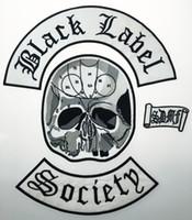 colete de vestuário venda por atacado-Atacado Excelente 4 pc Voltar Definir Black Label Society Bordado Ferro Patch Biker Jacket Rider Vest Patch de Ferro Em Qualquer Modelo de Vestuário G0220