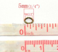2000Pcs Bronze Tone Oval Open Jump Rings Alliage Charms Jewelry Findings Component Wholesales 5x4mm en gros