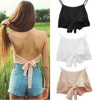 Wholesale Korean Sleeveless Pink Blouse - Korean Fashion Womens Loose Chiffon Tops Sleeveless Shirt Casual Blouse Tank