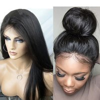 Wholesale Density Peruvian Hair - Full Lace Wigs With Baby Hair Unprocessed Virgin Brazilian Full Lace Wig Lace Front Wigs With Baby Hair 150 Density