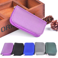 Wholesale Memory Storage Pouch - New Portable SD SDHC MMC CF Micro SD Memory Card Storage Carrying Pouch bag Case Holder Wallet