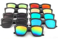 Wholesale Wholesale Neff - Box sunglasses big with the same paragraph rivet sunglasses,Trendy wild sunglasses.Women Thug Life Shades Be Yourself Neff Eyewear Free ship