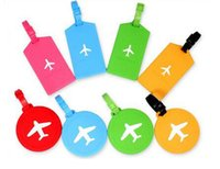 Wholesale Business Travel Suitcase - Laggage&bags Accessorles Cute Novelty Rubber Funky Travel Luggage Label Straps Suitcase Luggage Tags Free Shipping silicone bag label