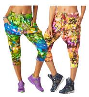 Wholesale Cargo Pants Dance - S M L women long pants Rock Out Cropped Harem Dance Pants yoga cargo pants