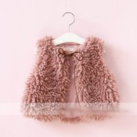 Wholesale Bow Cardigan Cotton - Everweekend Girls Bow Cardigan Cute Baby Pink and Brown Color Jacket Lovely Kids Western Korean Fashion Autumn Winter Coat