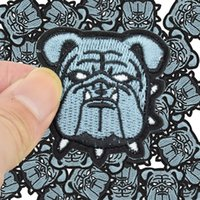 Wholesale wholesale embroidered dog patches - Diy Dogs patches for clothing iron embroidered patch applique iron on patches sewing accessories badge stickers on clothes bags