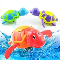 Wholesale Wind Up Turtles - 2017 Hot New Diver Bath Toy Swimming Floating Turtle Swim and Crawl Bathtub Wind Up Toys Pool Bath Fun Cute Sets for Kids