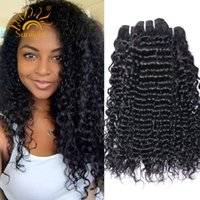 Wholesale Deep Wavy Remy Hair - Brazilian Virgin Hair Curly 3 Bundles Deals Remy Human Hair Deep Wave Brazilian Hair Bundles Weaves Wet And Wavy Weave Bundles