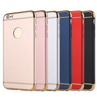 iphone 5s arka kapak toptan satış-Apple iPhone5 Için 3in1 PC + Elektroliz Smartphone Kılıf Backcover / 5 S 6 6 s artı iPhone7 7 Artı Darbeye Dayanıklı Ultrathin Koruyucu Kabuk 6 Renkler