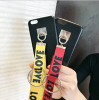 Wholesale Diy Phone Jewelry Accessories - Hot Sale LOVE letter wrestling hanging neck hand rope DIY phone shell material handmade jewelry accessories