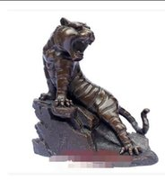 Wholesale Wang Art - Open copper tiger ornaments copper tiger special Wang Zhengwei on the mountain tiger crafts gifts furnishings
