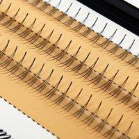 Wholesale Individual Lashes 14mm - Wholesale- 1 Set 6 8 9 10 11 12 14mm 0.07 C Curl 3D Individual Mink False Eyelashes Extension Soft Black Fake False Eye Lashes