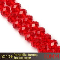 Wholesale Machine Cut Crystal - Free Shipping Cute Machine Cut Chinese Crystal Beads Rondelle Beads 10mm Special Colors A5040 72pcs set