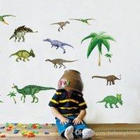 Wholesale Dinosaur Wall Decor For Kids - Wall Stickers Jurassic Park Dinosaur Colorful PVC Decal Removable Non Toxic Kid Room Nursery School Decor 2 9xx J R