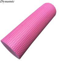Wholesale Yoga Foam Rollers - Wholesale-Dynamic 45x15cm Physio EVA Foam Yoga Pilates Roller Gym Back Exercise Home Massage O14