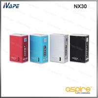 sangle de maison achat en gros de-100% batterie d'origine Aspire NX30 Mod 30W 2000mAh Aspire NX30 avec VV VW Bypass Modes en Aluminium Logement Lanière Sangle