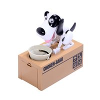 Wholesale Doggy Cute - Cute Puppy Hungry Eating Dog Coin Bank Doggy Coin Bank Dog Piggy Bank Coin Munching Toy Money Box
