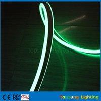 néon lumières latérales achat en gros de-Super lumineux 20m bobine 8 * 18mm étanche IP75 vert double face émettant des néons led mini bande flexible néon 12V 24V pour des chambres