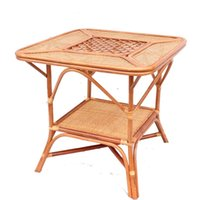 Coffee Tables square outdoor coffee table - Rattan Square Table Natural Plant Vine Small Coffee Table Outdoor Balcony Leisure
