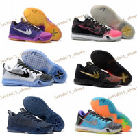 Wholesale Stretch Light - New Arrival Top Quality Free Shipping Mens Basketball Shoes Kobe 10 X Low Cut Sneakers Mens Kobe X 10 Elite Trainers Footwear us size 7-12