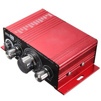 Wholesale car stereos price resale online - Mini CH Hi Fi Stereo MA v A Amplifier Booster DVD MP3 Speaker for Car Motorcycle Boat home top quality price New