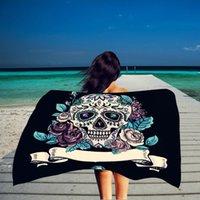 ingrosso asciugamani sottili di cotone-Tovagliolo da spiaggia rettangolo asciugamano sottile cotone stampa fiore asciugamano coperta coperta scialle yoga all'ingrosso