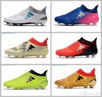 botines de fútbol juvenil ag al por mayor-2017 Ace 17+ Hombres X 16 Purechaos FG AG Zapatos de fútbol Messi Pureagility Niños Botas de fútbol Niños Tacos para jóvenes 39-45