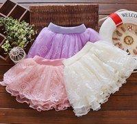 Wholesale Newborn Blouse - INS Girls Full lace mesh puff skirt 0-3 years newborn summer elastic band skirt 2017 Princess TUTU baby skirt girl clothes