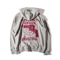 oğlan pamuklu hoodie toptan satış-Vetements boy Tişörtü Erkekler Kadınlar Hoodies 2016 Üst Sürüm Boy Sarkan Omuzlar Gun Kulübü Pamuk Moda Erkekler Tops