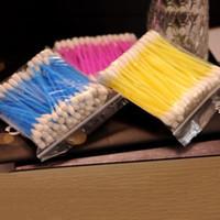 Wholesale Wholesale Cotton Swab Applicators - Wholesale- Safty And Good Quality Disposable Cotton Swab Applicator Q-tip Swabs Plastic Handle Sturdy 2 Bags