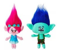 doll 23cm 2018 - 23cm Hot New Movie Trolls Plush Toy Poppy Branch Dream Works Stuffed Cartoon Dolls The Good Luck Trolls Christmas Gifts