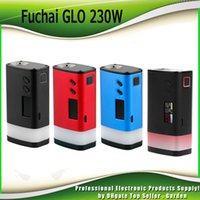 Wholesale Vw Led - Original Sigelei Fuchai GLO 230W TC Box Mod VW Dual 18650 Battery Ecig Mods With Bottom LED Strip 100% Genuine 2207056