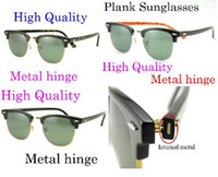 Wholesale Ems Alloy - Free EMS High Quanlity glasses Metal hinge Plank glasses unisex sunglasses mens black sunglasses womens sun glasses glitter2009