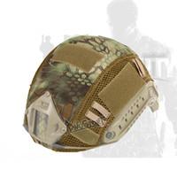 ingrosso copertura tattica di casco airsoft-Airsoft Paintball Tactical Accessories Combat Upgraded Fast Casco copertura MH PJ base salto stile casco veloce per la caccia