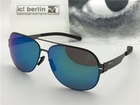 Wholesale Germany Coat - Germany designer brand sunglasses IC model guenther ultra-light without screw memory alloy glasses removable frame coating reflective lens