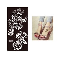Wholesale Body Tattoos For Men - Wholesale- 1pc Tasty Waterproof Temporary Tattoo Henna Flower Stencil for Sex Women Men Makeup Body Art Tattoo Sticker Template Design S238