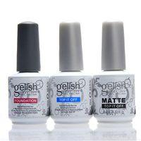 Wholesale Gel Polish Prices - 400pcs Harmony Gelish polish best price top coat foundation gel Polish Nail gel polish Art Salon uv gel soak off top coat base coat
