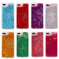 Wholesale iphone 6splus clear case for sale - Group buy Liquid Bling Glitter Star Case For iPhone Plus s Plus sPlus Samsung S7 S6 Edge Huawei Quicksand Liquid Dynamic Clear Case