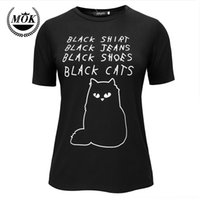 Wholesale Cat Goth - Wholesale-Black Shirt Jeans Shoes Cats Pastel Goth Grunge Goth Tumblr Clothing Kawaii Hipster Punk Indie Homies Cute Emo Instagram Kitten