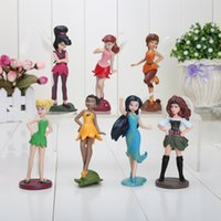 zarina pirate fairy achat en gros de-Grossiste-7pcs / lot Tinker Bell Figurines en PVC Figurine et Pirate Fée Zarina Rosetta Waves Poupée faon