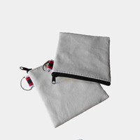 Wholesale Wholesale Small Square Canvases - Wholesale Eco Friendly Blank Canvas Coin Purse Ladies Cheapest Classic Retro Small Change Coin Purse canvas purse